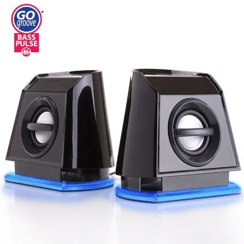 BassPULSE 2MX High-Fidelity USB Powered 2.0 Channel Computer Speakers