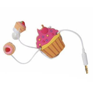 Cupcake Cord Wrapper & Cupcake Earbud Set