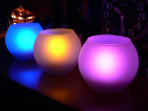 Color Selectable Flameless Votive Candle with Remote