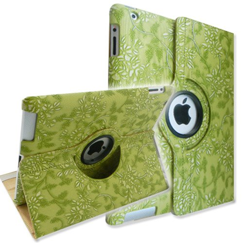 360 Degree Rotating PU Leather Case iPad 2