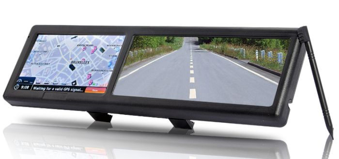 Bluetooth Rearview Mirror with Built-in GPS Navigation