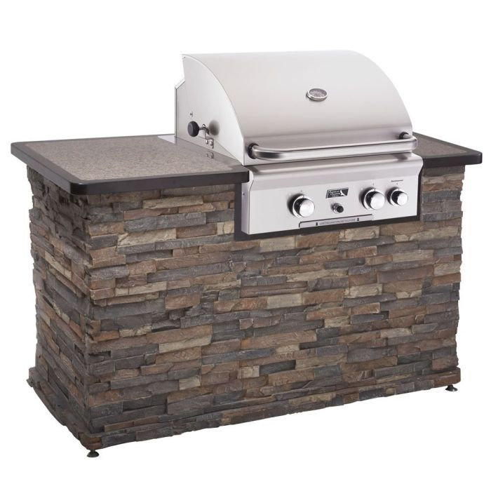 """American Outdoor Grill Brand 24"""" Built-In Stainless Steel Gas Grill"""