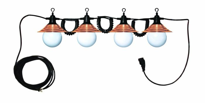 Copper Shades Patio Light String