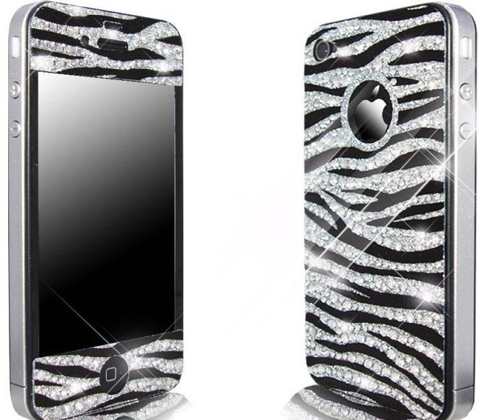 iPhone 4S / 4 Novoskins Crystal Zebra Skin