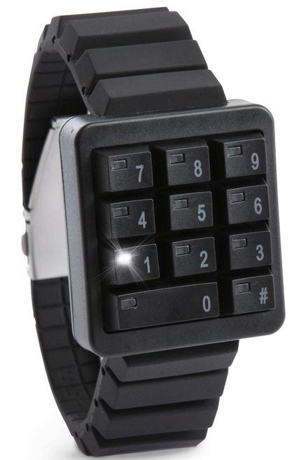Keypad Hidden Time Watch