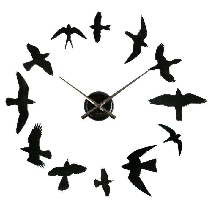 Diy Birds Wall Clock