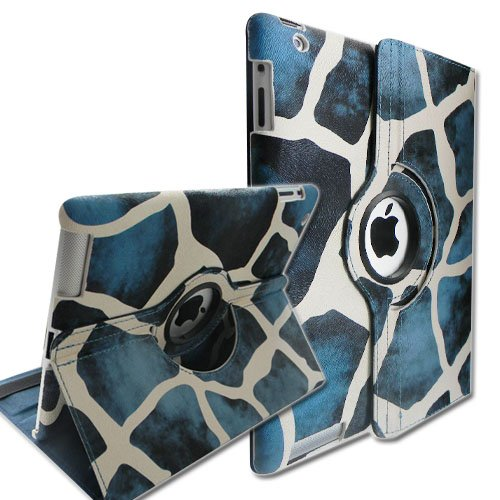 Giraffe Pattern 360 Degrees Rotating Stand Smart Cover PU Leather Case