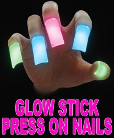 Glow Stick Press On Nails
