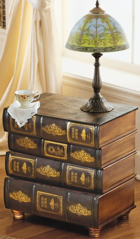 Library Book Side Table