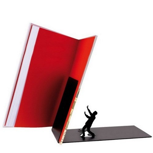 """""""Falling Books"""" Falling Bookend Metal Bookend"""