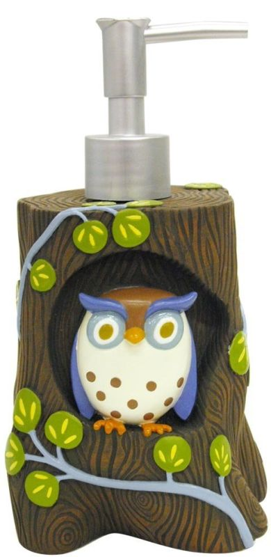 Creations Awesome Owls Resin Lotion Bottle
