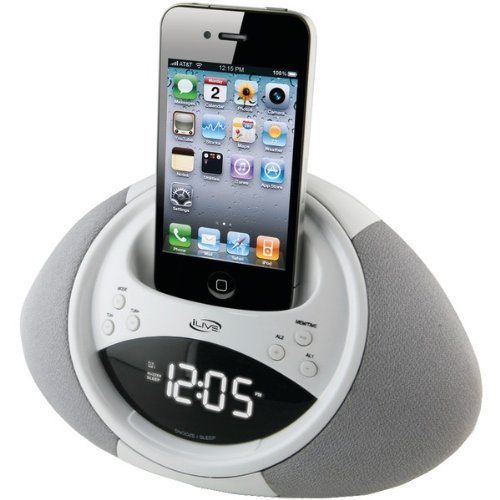ILIVE ICP122W IPHONE(R) & IPOD(R) CLOCK RADIO