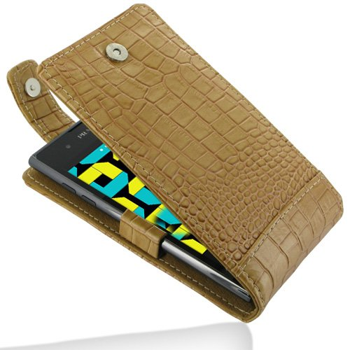 PDair T41 Brown / Crocodile Pattern Leather Case for LG Prada 3.0