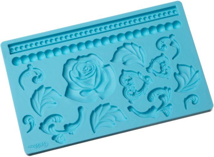Fondant and Gum Paste Silicone Mold Baroque