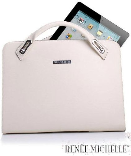Apple iPad 2 & Newest iPad ( iPad 3 ) Deluxe Ivory Designer Attaché Travel Bag Case