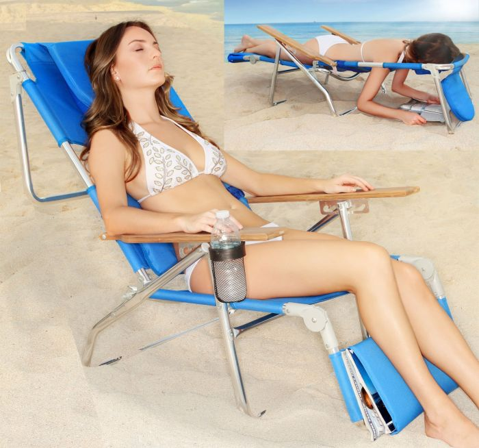 Super Deluxe Padded 3 in 1 Beach Chair / Lounger