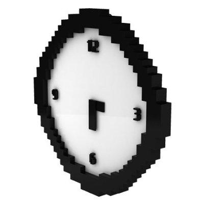 Pixel Time Clock Fun Retro Pixelated Wall Clock