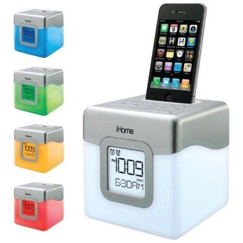 iHome led color changing dual alarm clock speaker system