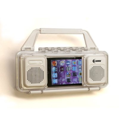 ClearMax Ultimate Water Resistant Stereo Speaker Case - For iPod and iPod Touch