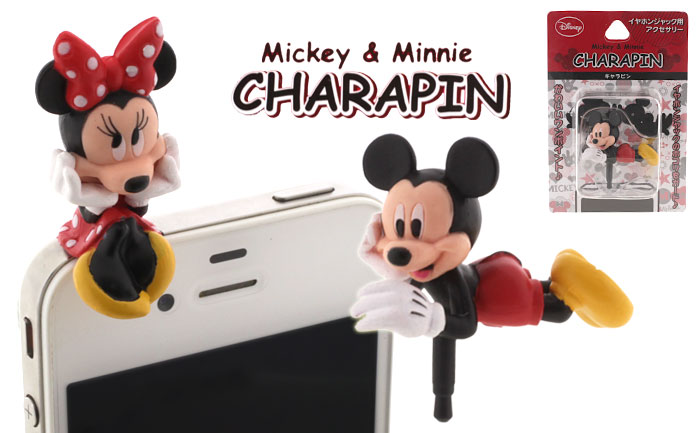 Disney Mickey Mouse Charapin Earphone Jack Accessory