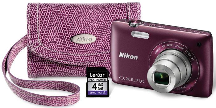Nikon COOLPIX S4300 Digital Camera with 4 GB Memory Card