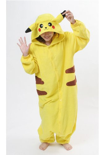 Original Kigurumi Pajamas Halloween Costumes Nintendo Pokemon Pikachu