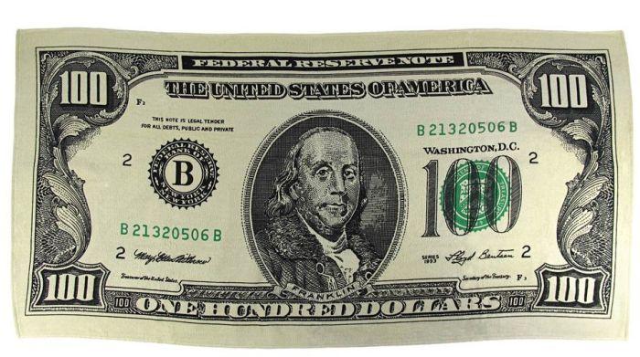 Hundred Dollar Bill Reactive Beach Towel