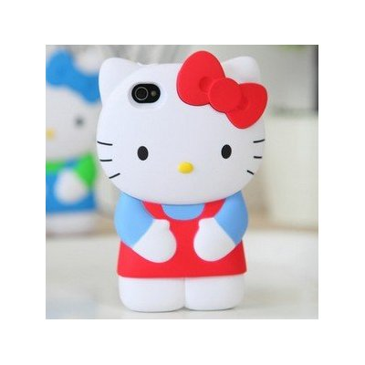 3D Hello Kitty iPhone 4S/4G/4 Silicon Hard Case