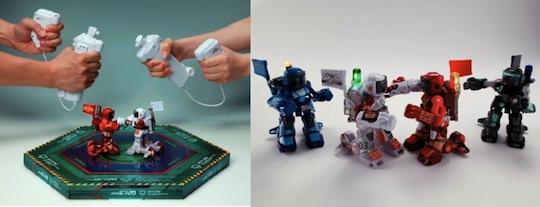 Remote control fighting boxer robots set