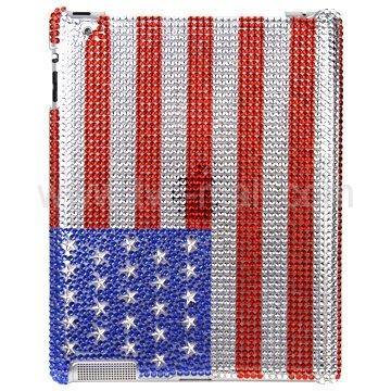 American Flag Design Diamond Case for Ipad 2