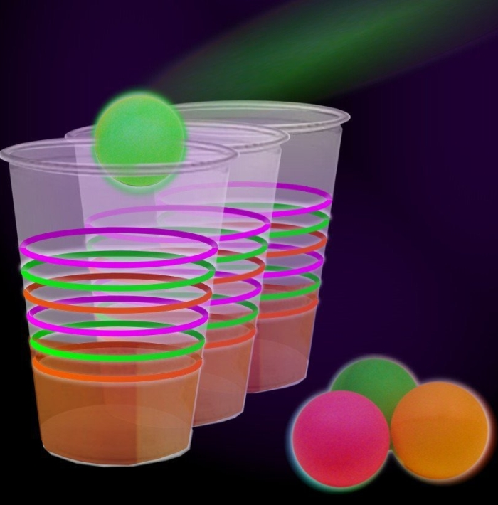 Reactive Neon Beer Pong Party Pack