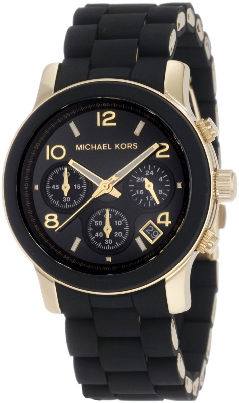 Black Dial with Black Goldtone Bracelet