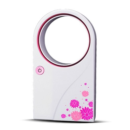 Air-Condition Fan USB & Battery Mini Bladeless Fan Pink