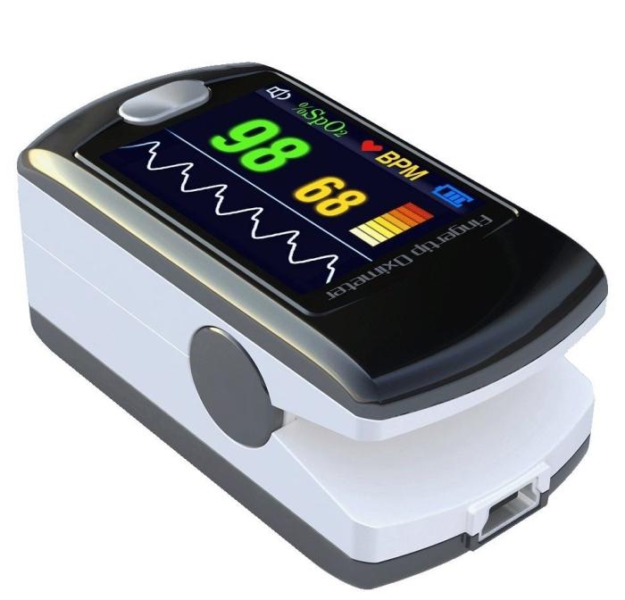 Full-Colour OLED USB Finger Pulse Oximeter & Heart Rate Monitor