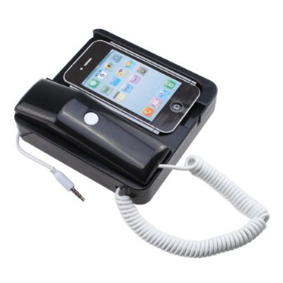 Retro Phone Docking Handset Receiver Speaker Hands-free Speaker for iPhone 4 4s