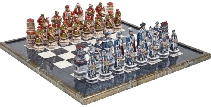 Great Wall of China Luxury Chessmen & Mancini Chess