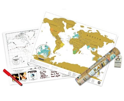 Scratch Personalized World Map Poster