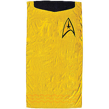 Captain Kirk's Uniform All Cotton Beach Towel