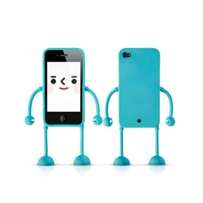 3D Robot Silicone Stand Case Cover for iPhone 4 4G 4S