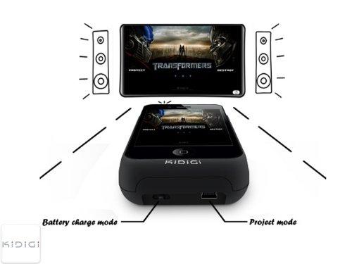 KiDiGi i-Pico Projector & Battery Case for Apple iPhone 4 4S