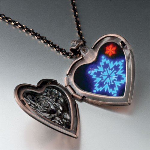 Neon Snow Flakes Pendant Necklace