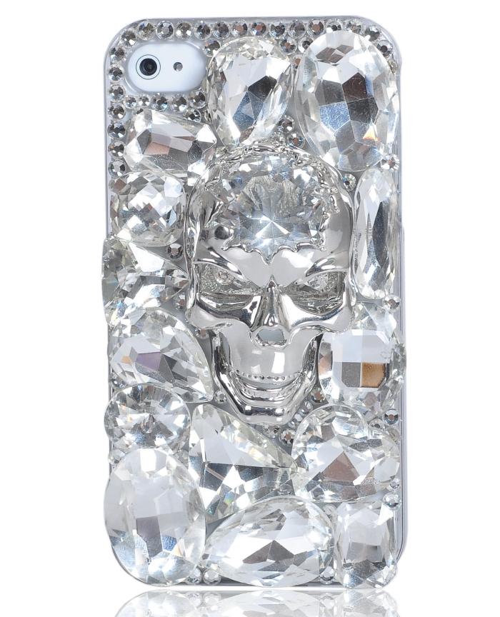 Swarovski Crystal Skullcandy Style Phone Case for Iphone 4 4s
