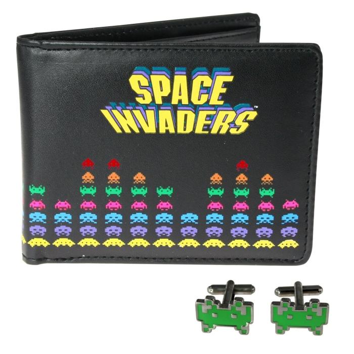Space Invaders Wallet & Cufflinks Set