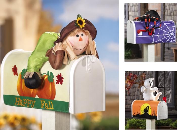 Fall & Halloween Decorative Stuffable Mailbox Cover