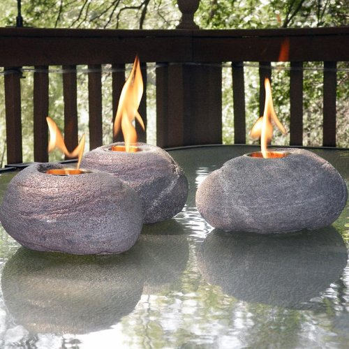 Fire Rocks with Real North American River Rock Look
