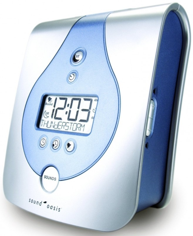 Natural Sounds Sleep Therapy System and Alarm Clock With 3 Soundcards
