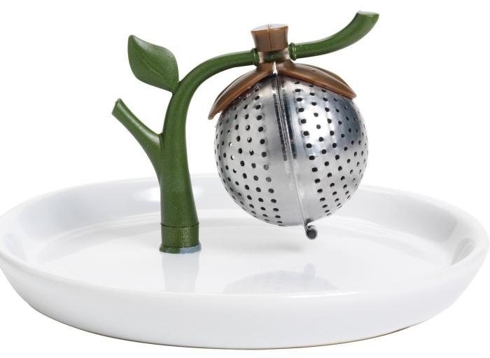 Arta Tea Infuser and Saucer