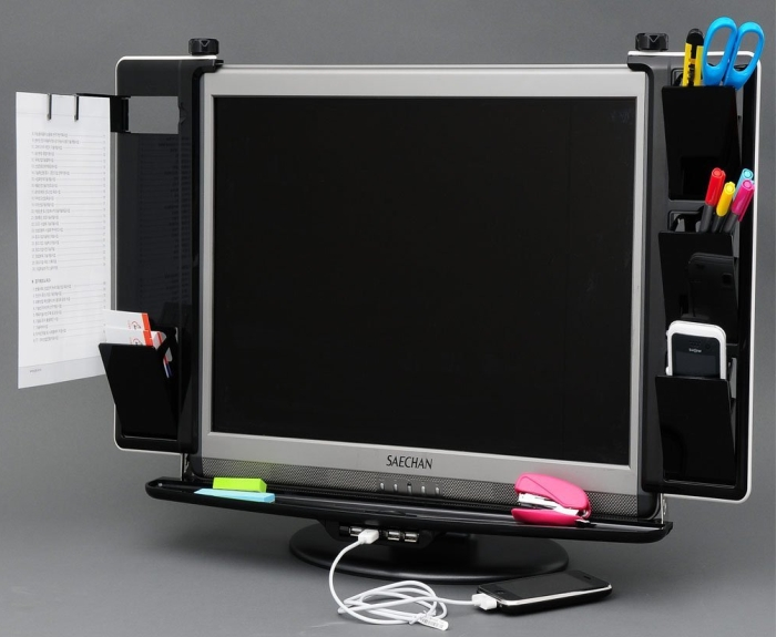 LCD Monitor Organizer with USB Hub