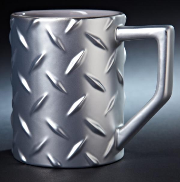 Diamond Plate Construction Mug Coffee