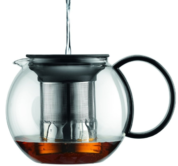 Glass Tea Press with Stainless Steel Filter